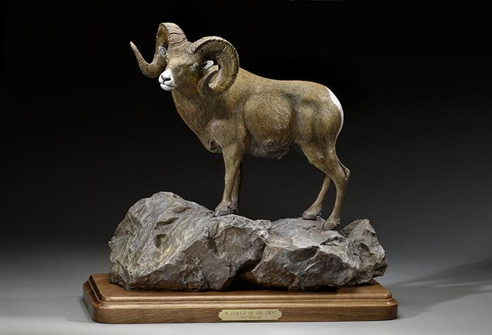 "A League of His Own22""L 20""H 10""W - ed./30 - Wildlife Bronze Sculpture Bronze Sculpture of North American Animals Bronze Big Game Animal Statues"