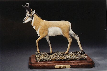Antelope6-8L&H - ed./75 - Wildlife Bronze Sculpture