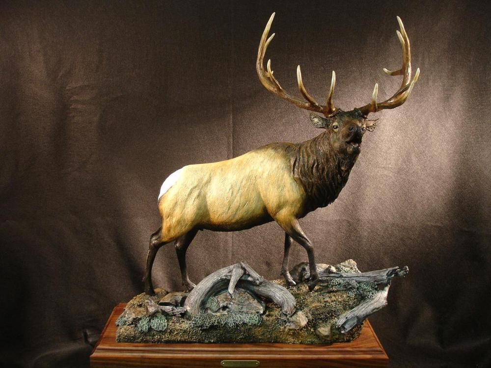 "Autumn Rhapsody28""L 37""H 11""W - ed./12 - Wildlife Bronze Sculpture Bronze Sculpture of North American Animals Bronze Big Game Animal Statues"
