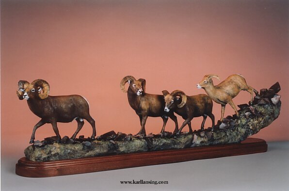 "Band of Brothers46""L14""H7""W - ed./15 - Wildlife Bronze Sculpture"