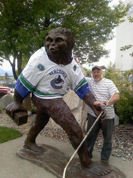 "Sasquatch Beer Run Monument8.5""H - Wildlife Bronze Sculpture Monumental Wildlife Bronzes Life-size plus wildlife bronzes"