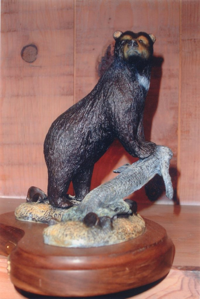 "Black Bear6-8""L & H - ed./75 - Wildlife Bronze Sculpture"