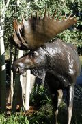 "Bull of the Woods96""L 7H 2W - ed./6Bull Moose Monument - Wildlife Bronze Sculpture Bull Moose Sculpture Life-size Moose Statue"