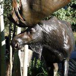 "Bull of the Woods96""L 7H 2W - ed./6Bull Moose Monument - Wildlife Bronze Sculpture Bull Moose Sculpture Life-size Moose Statue"