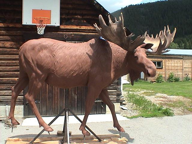 Bull of the Woods - Clay - Wildlife Bronze Sculpture
