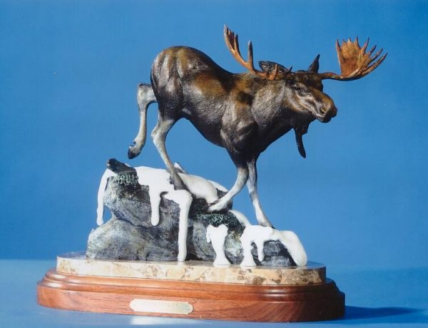 Challenger17L15H9W - ed./25 - Wildlife Bronze Sculpture Bronze Sculpture of North American Animals Bronze Big Game Animal Statues