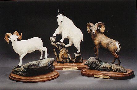 "Dall Sheep; Mountain Goat; Bighorn Sheep6""-8""L&H - ed./75 - Wildlife Bronze Sculpture"