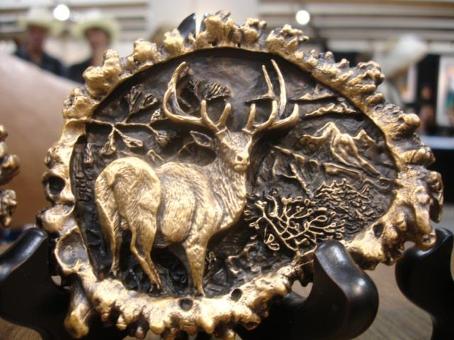 "Elk ""Burr"" Bronze Belt Buckleed./1000 - 3.5""W 2.5""H - Wildlife Bronze Sculpture Bronze Big Game Belt Buckles Bronze Equine Belt Buckles"