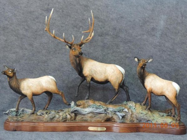 "Fall Gathering37""L 24""H 10""W - ed. /15 - Wildlife Bronze Sculpture"