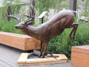 "Forest Ghost57""H 65""L - 21""W x 37""L base - ed./9 - Wildlife Bronze Sculpture Monumental Wildlife Bronzes Life-size plus wildlife bronzes"
