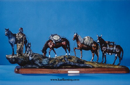 "Headin` To Rendezvous50""L12""W18""H - ed./25 - Wildlife Bronze Sculpture"
