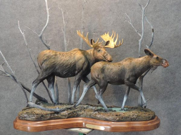 "Her Escorted./15 - 37""L 35""H 13""W - Wildlife Bronze Sculpture"
