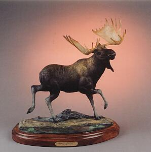 "High Steppin`22""H 21""L12""W - ed./30 - Wildlife Bronze Sculpture Bronze Sculpture of North American Animals Bronze Big Game Animal Statues"