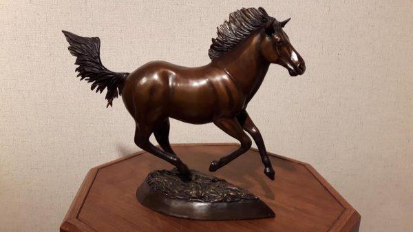 "High Tailing It12""L 11""H 4""W - ed./18 - Wildlife Bronze Sculpture Bronze Sculpture of Horses Bronze Equine Statues"