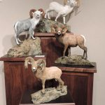 """A League of Extraordinary GentlemenTotal Size 25""""W 26""""L 21""""H Individual sizes vary. - ed./45Price includes pedestal - Wildlife Bronze Sculpture Bronze Sculpture of North American Animals Bronze Big Game Animal Statues"""