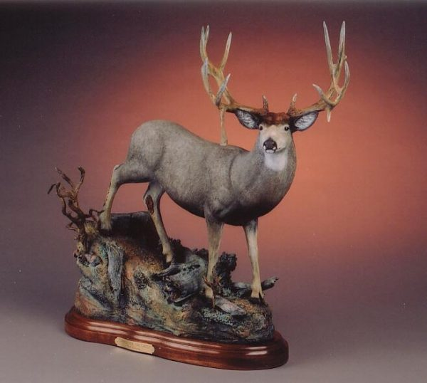 "Looking for the Ladies26""H 27""L 11""W - ed./30 - Wildlife Bronze Sculpture Bronze Sculpture of North American Animals Bronze Big Game Animal Statues"