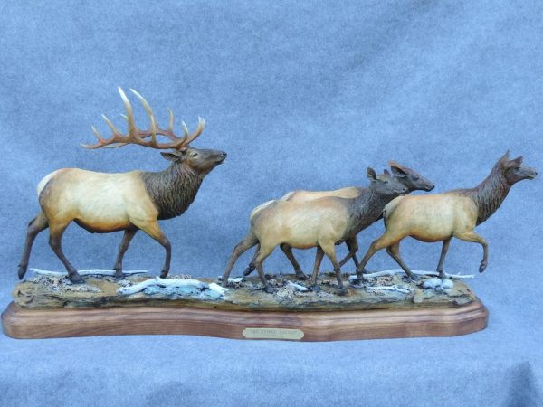 "My Three Ladiesed./15 - 37""L 8""W 19""H - Wildlife Bronze Sculpture"