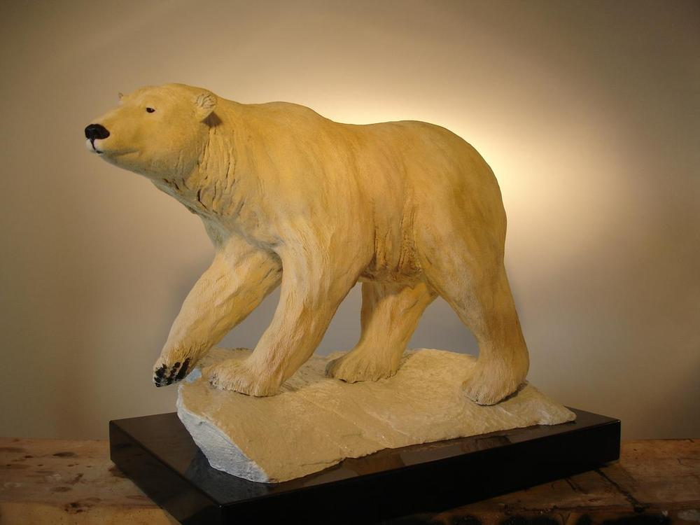 "Nanuk - Arctic King23""L 17""H 15""W - ed./20 - Wildlife Bronze Sculpture Bronze Sculpture of North American Animals Bronze Big Game Animal Statues"