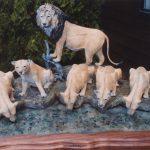 Pride of the Serengetti - Wildlife Bronze Sculpture Lion Coffee Table Lion Bronze Sculpture