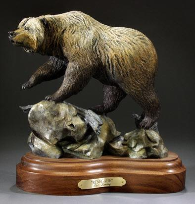 "Renegade11L11H 6""W - ed./25 - Wildlife Bronze Sculpture Bronze Sculpture of North American Animals Bronze Big Game Animal Statues"