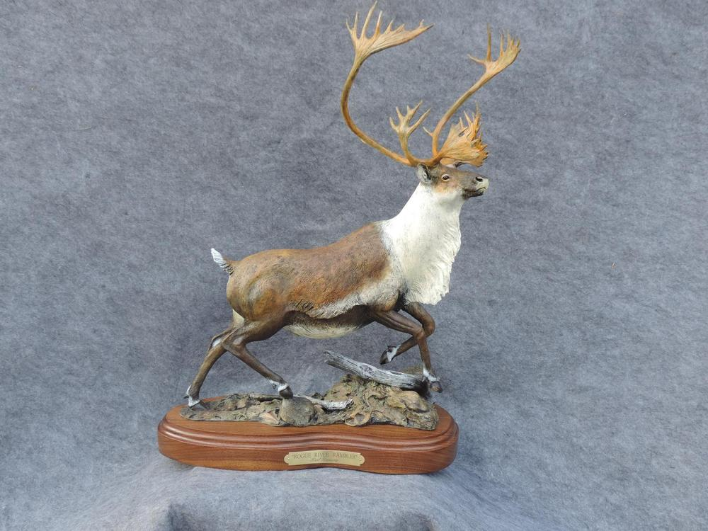 "Rogue River Rambler26""H 18""L 9""W - ed./12 - Wildlife Bronze Sculpture Bronze Sculpture of North American Animals Bronze Big Game Animal Statues"