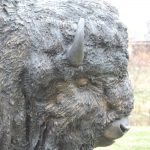 "Rolling Thunder Monument14L 4W 66""H - ed. /6Buffalo Monument - Wildlife Bronze Sculpture Monumental Buffalo Sculpture Monumental Bison Bronze"