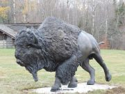 "Rolling Thunder Monument14L 4W 66""H - ed. /6Buffalo Monument - Wildlife Bronze Sculpture Monumental Buffalo Sculpture Monumental Bison Bronze"