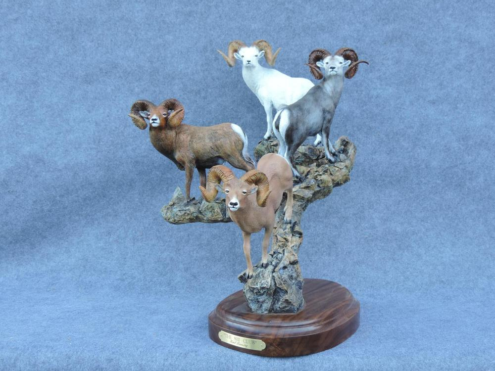 """The 800 Club20""""H 15""""W 20""""L - ed/30 - Wildlife Bronze Sculpture Bronze Sculpture of North American Animals Bronze Big Game Animal Statues"""