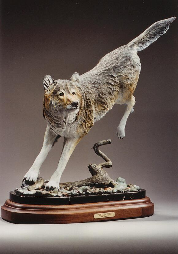 "Wild & Free25""L 22""H17""W - ed./30 - Wildlife Bronze Sculpture Bronze Sculpture of North American Animals Bronze Big Game Animal Statues"