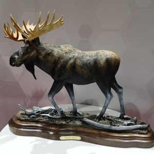 """Big Old Bull"" - Moose - by Karl Lansing 27""L 7""W 20""H Limited Edition /20"